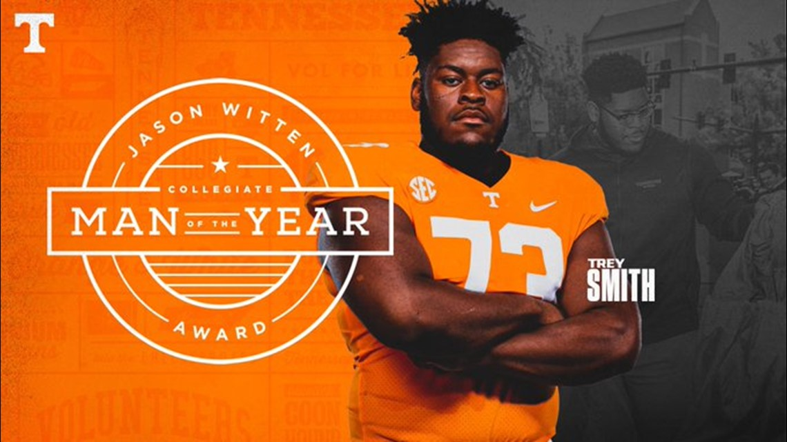 Tennessee's Trey Smith named 2020 Jason Witten Collegiate Man of the Year