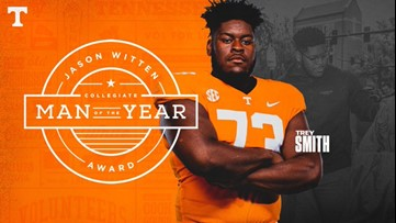 """It's not about me"" Tennessee's Trey Smith named 2020 Jason Witten Collegiate Man of the Year"