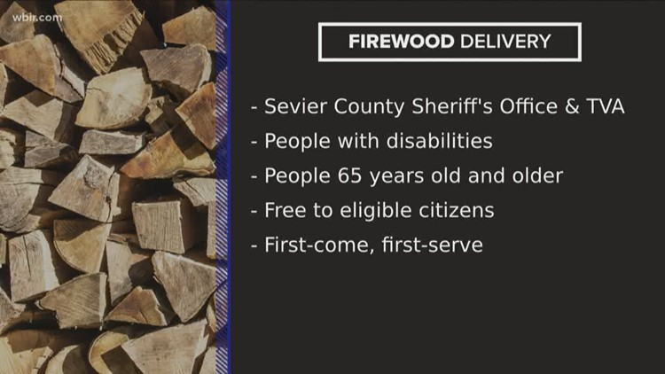 Free firewood deliveries in Sevier County
