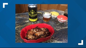 Hexagon Brewing Co. uses their light German beer as a marinade for chicken