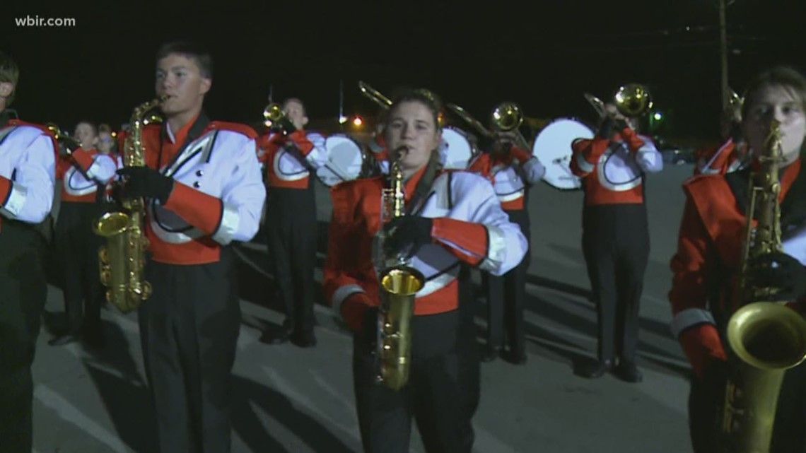 Clinton High School Band performs on the 10Sports Blitz