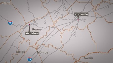 Tractor trailer runs off I-40 West