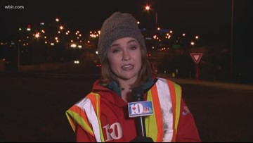 Traffic around I-40 moving smoothly after snowfall earlier today