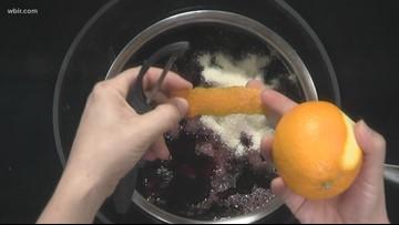 Boozy cherries with Mascarpone cheese