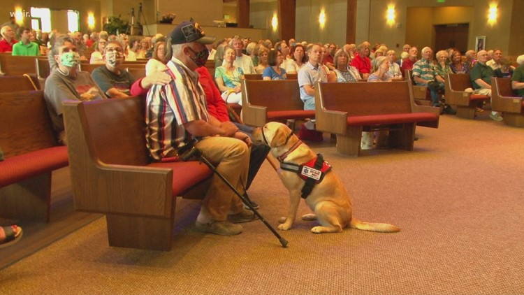 Smoky Mountain Service Dogs passes the leash to East Tennessee veteran