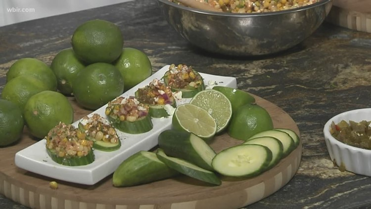 In the kitchen: Mexican street corn and cucumber crostini recipe