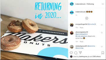 Makers Donuts teases 2020 return