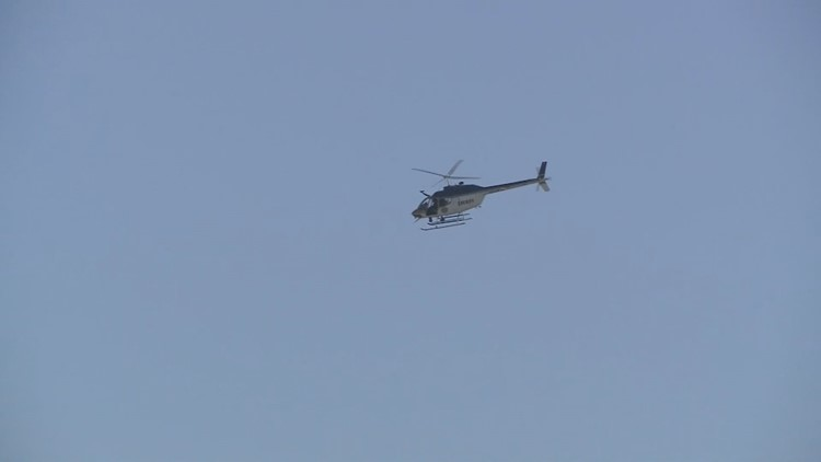 Helicopter over Powell High School