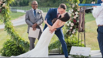 Sevier County couple gets married the day after losing their apartment in a fire