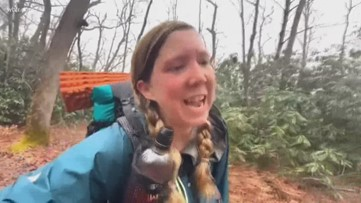Woman hiking Appalachian Trail gives update on journey