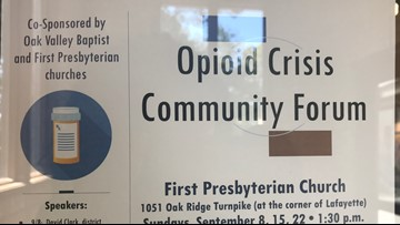 Two Anderson County churches join the fight against the opioid crisis