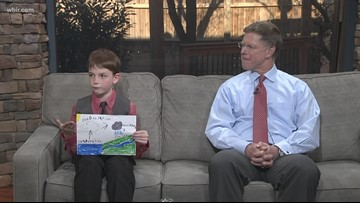 Junior anchor Rylee explains the water cycle