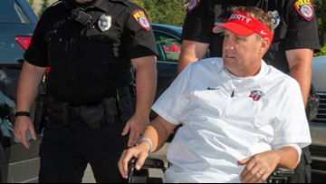 Liberty's Hugh Freeze coaches from hospital bed in season opener