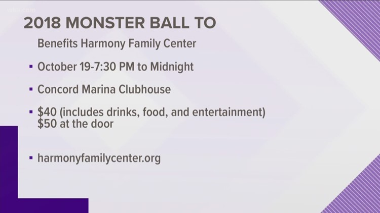 2018 Monster Ball To Benefit Harmony Family Center Is Oct 19 At Concord Marina Clubhouse 730pm Midnight 40 Adults MUst Be Least 21 Attend