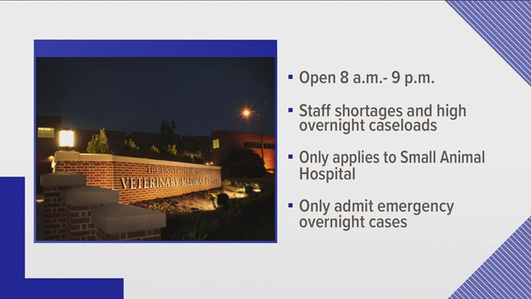 UT Veterinary Medical Center temporarily cutting back emergency service hours for small animals