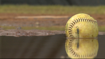 Powell softball returns for first game on their field after it was badly flooded