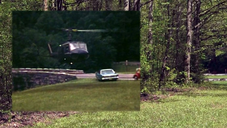 1969 and 2019 Overlay Townsend Wye Dennis Martin Search Trees Great Smoky Mountains