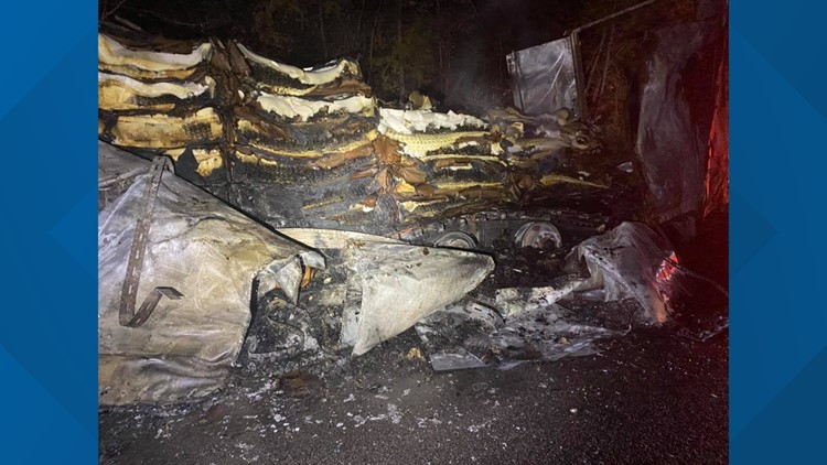 Semi trailer catches fire in Hawkins County; parts of Highway 70 North will be closed