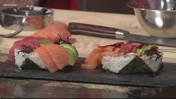 In the kitchen: Sushi donuts