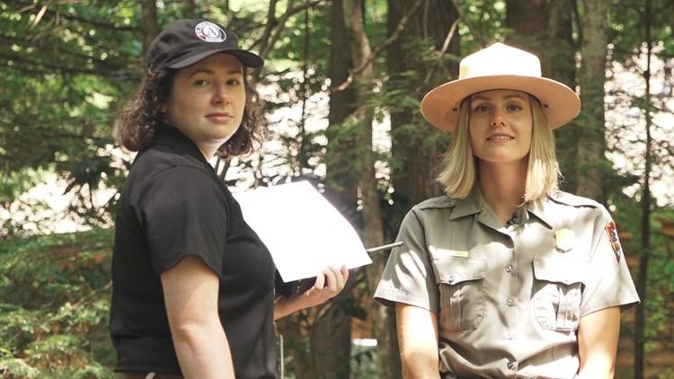 Allison Bate and Jessie Snow Great Smoky Mountains National Park Smokies