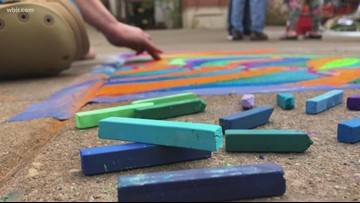 Chalk Walk fills Market Square with color and creativity