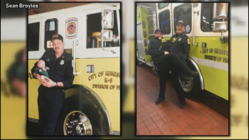 Retired Kingsport firefighter has a son following in his footsteps