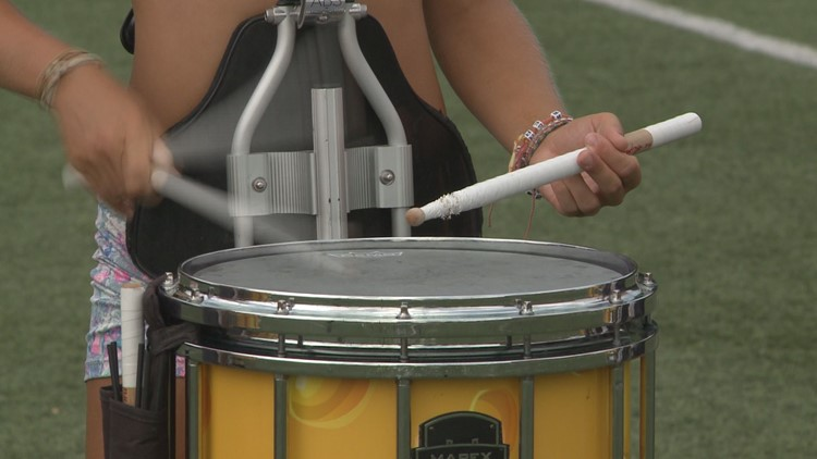 A drummer practices for Drums Across the Smokies 2019