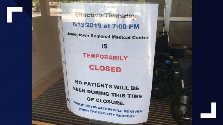 Jamestown closure