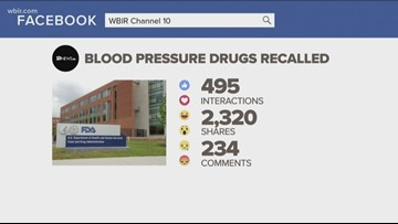 FDA recalls another blood pressure drug for possible cancer risk