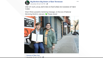 Big Brothers Big Sisters of East Tennessee gets boost from 'Humans of New York'