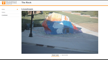 Some Kentucky fans were spotted painting 'Go Cats' on the Rock and Vol Nation wouldn't stand for it