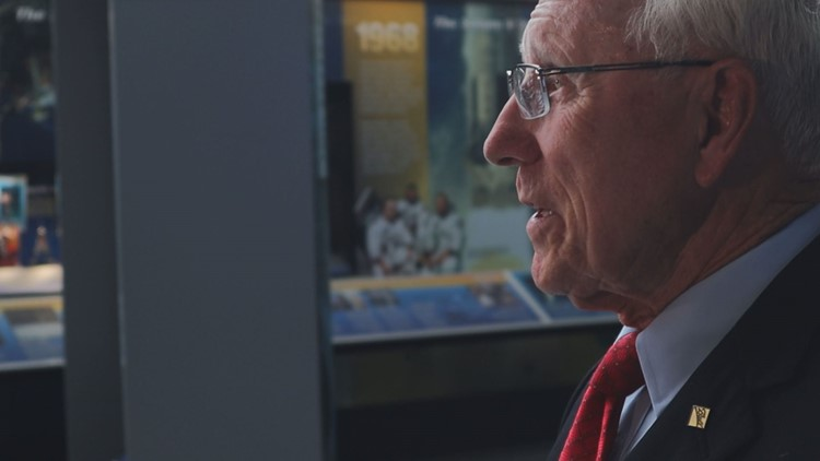 Parker Counts, retired engineer involved with Apollo project
