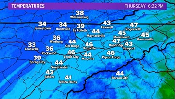 Bundle up if you'll be heading out to trick-or-treat! Cold air is moving into East Tennessee