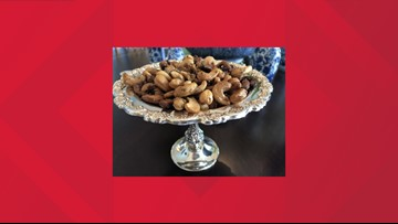 Rosemary brown sugar cashews are a great holiday snack