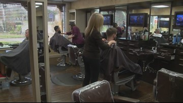 Businesses thank veterans with free haircuts