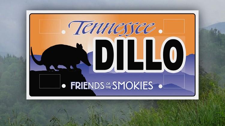 Mock Joke Armadillo Friends of the Smokies License Plate
