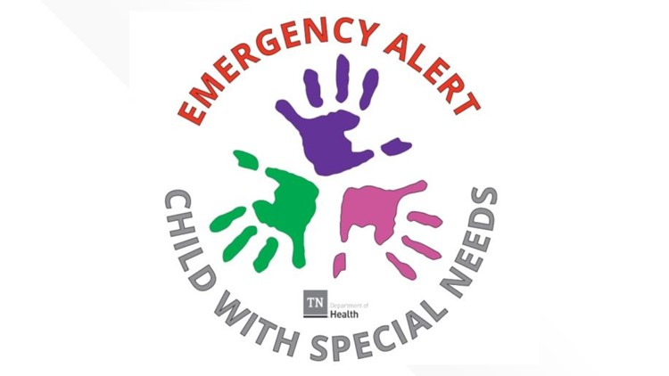Tennessee creates emergency alert decals for families of children with special needs