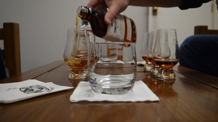 whiskey tasting at Jack Daniel's