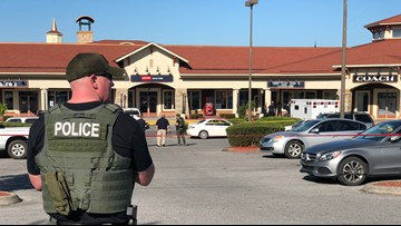 Man hurt in random shooting at Tanger Outlet mall in