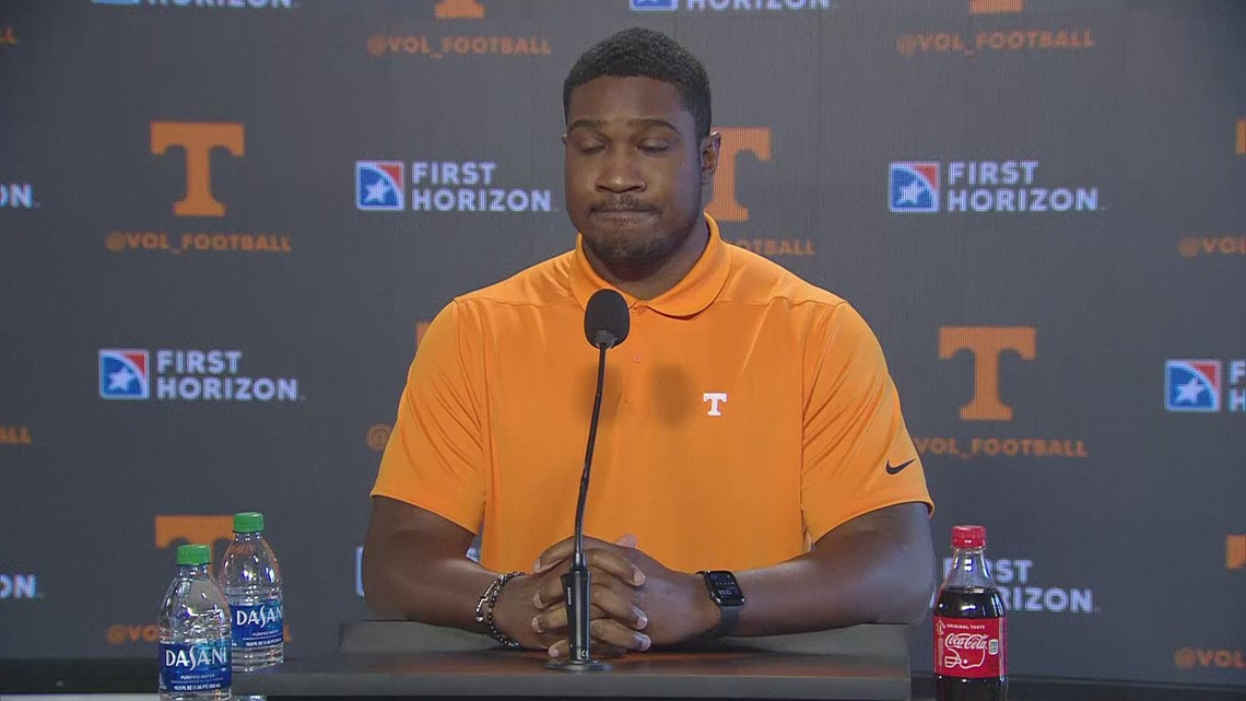Tennessee wide receivers coach Kodi Burns introduced