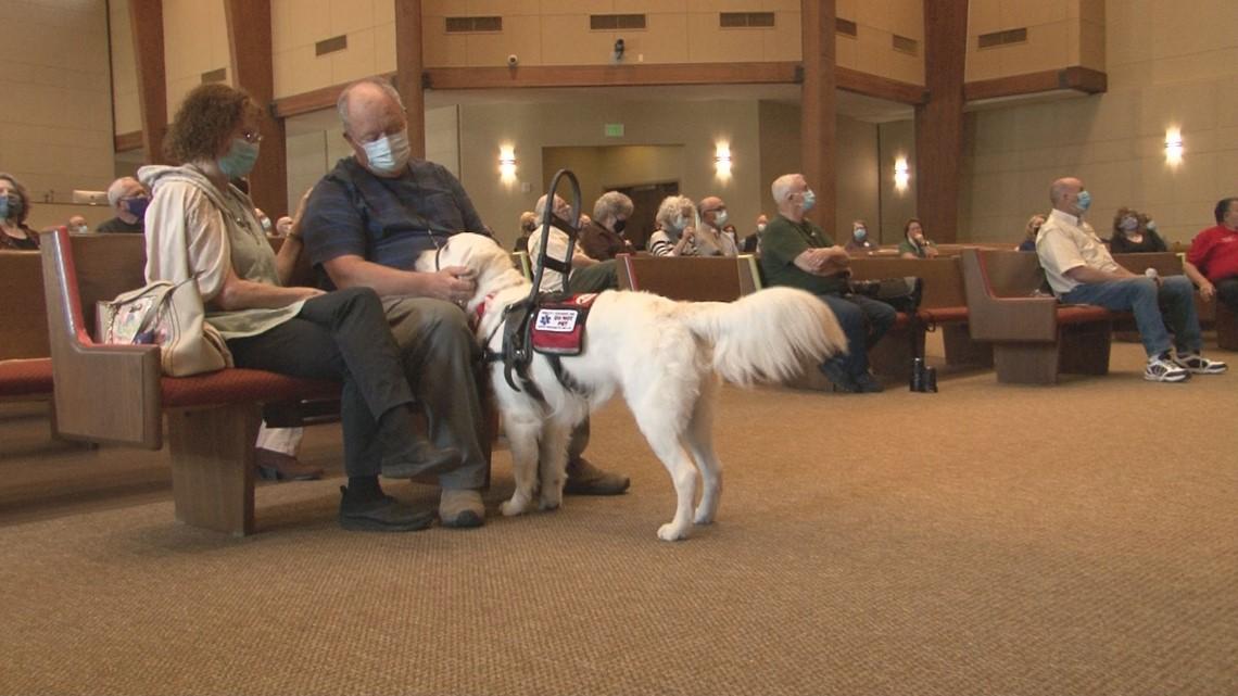 "9/11 survivor and combat veteran gifted new Smoky Mountain Service Dog, ""Hondo"""