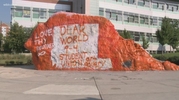 UT chancellor condemns hate speech on The Rock
