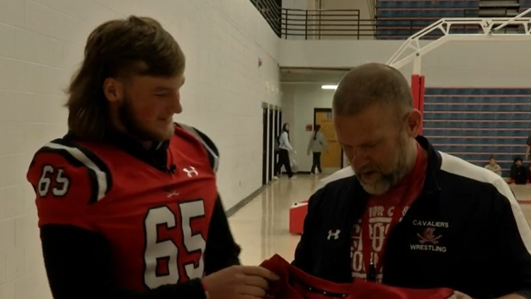 Cookeville High School seniors give jerseys to teachers and administrators