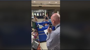 WATCH: Anderson County HS assistant principal remembers 9/11 by reciting timeline over speakers
