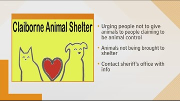 Claiborne Animal Shelter warns about fake animal control officials