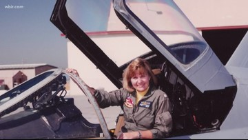 Navy holds first-ever all-female flyover in East TN in honor of pioneer Capt. Rosemary Mariner