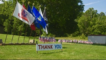 Powell couple honors veterans with flag display
