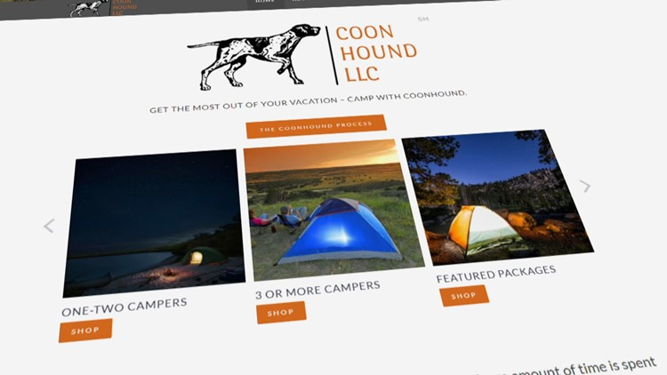 Screengrab of the Coonhound.co website.