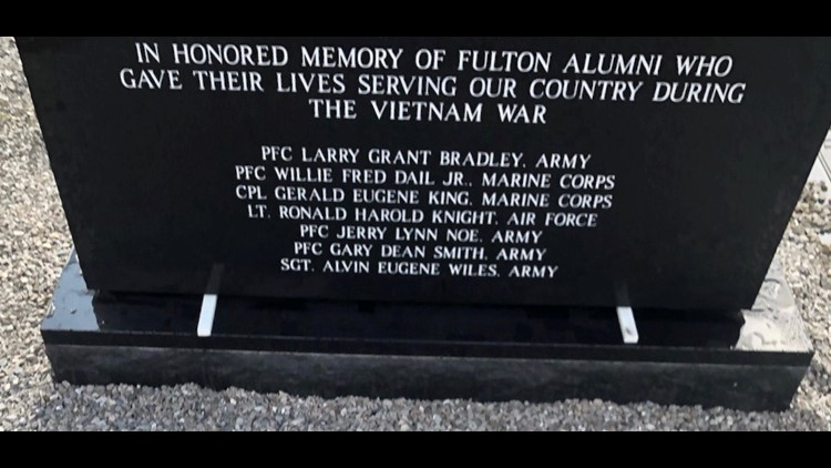 Fulton memorial to the fallen