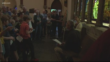 East Tennessee multi-denominational group observes Stations of the Cross on Good Friday